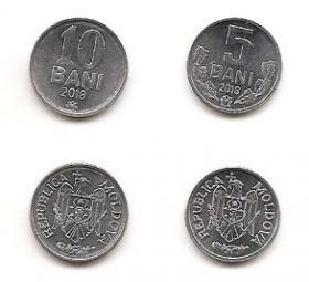 Набор монет Молдова 2018 (2 монеты)