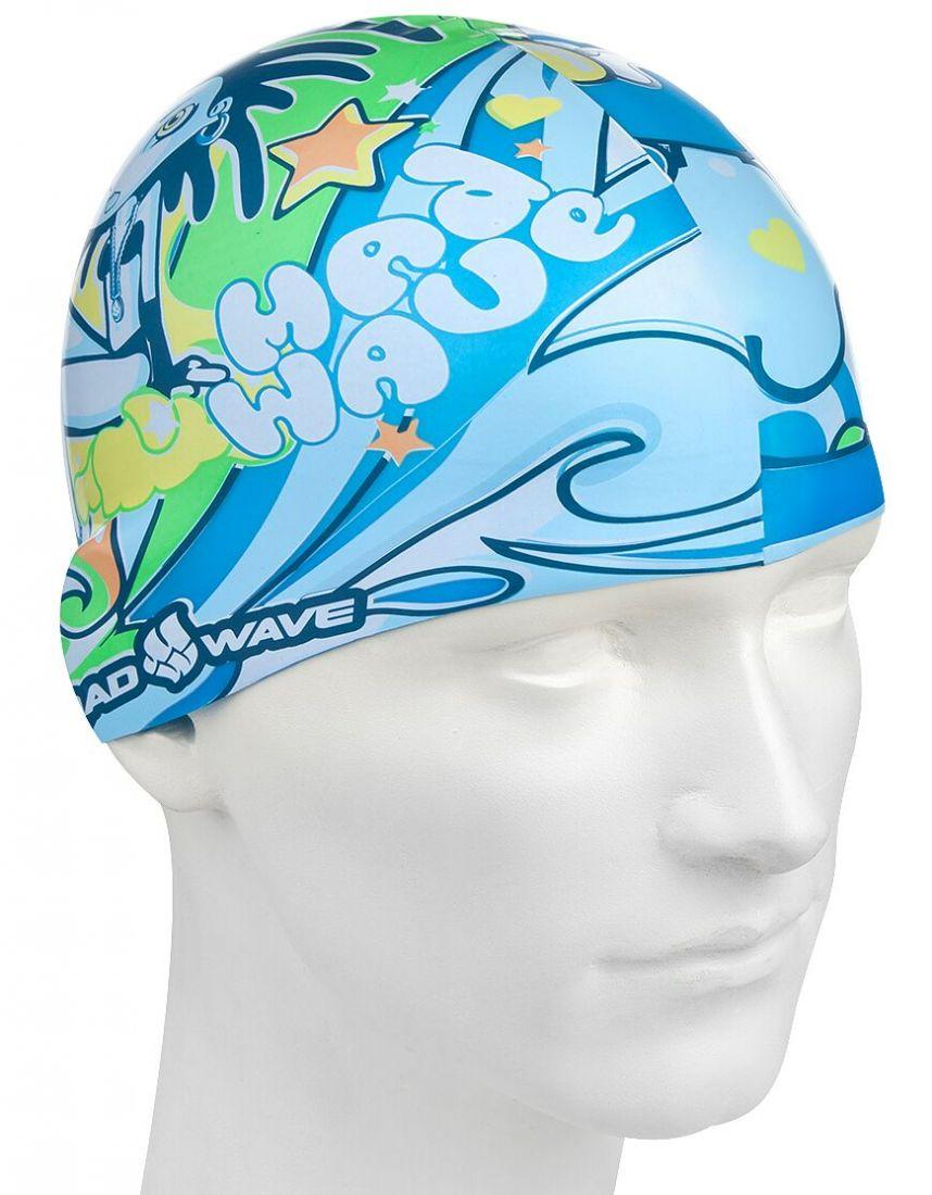 Шапочка для плавания силиконовая Mad Wave ALIEN
