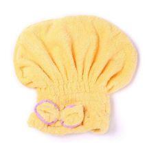 Мягкая махровая шапочка для быстрой сушки волос, Жёлтый