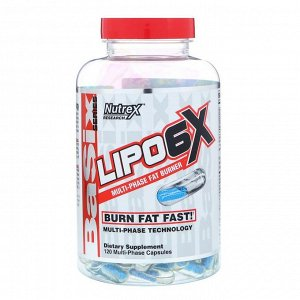 Nutrex Lipo-6X, 120 капсул