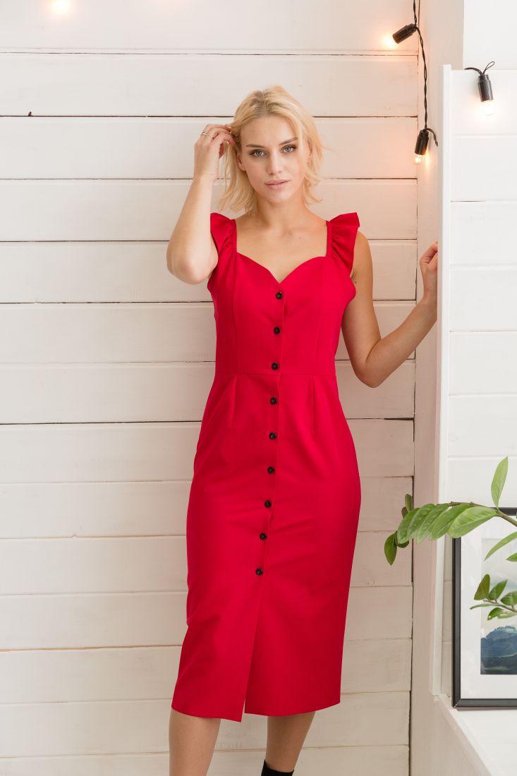 295 Платье красное