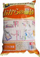 HITACHI комкующийся соевый наполнитель без аромата 6л