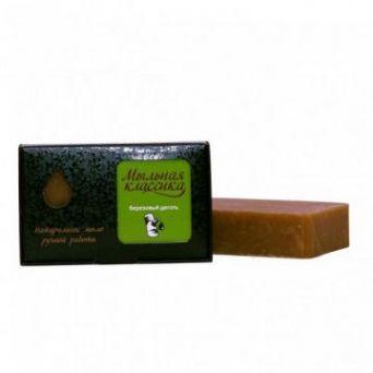 Натуральное мыло ручной работы Березовый деготь, 100 г
