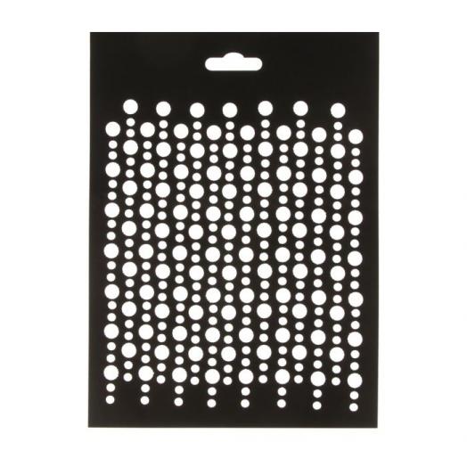 Трафарет пластиковый, Пузырьки, 21*15 см