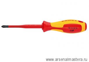 Тонкая отвертка для винтов с крестообразным шлицем Pozidriv KNIPEX 98 25 02 SL
