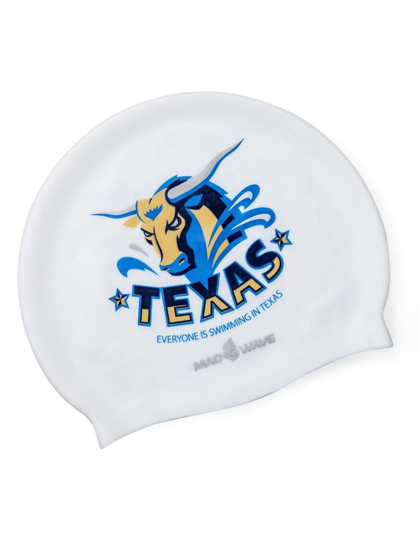 Шапочка для плавания силиконовая Mad Wave TEXAS