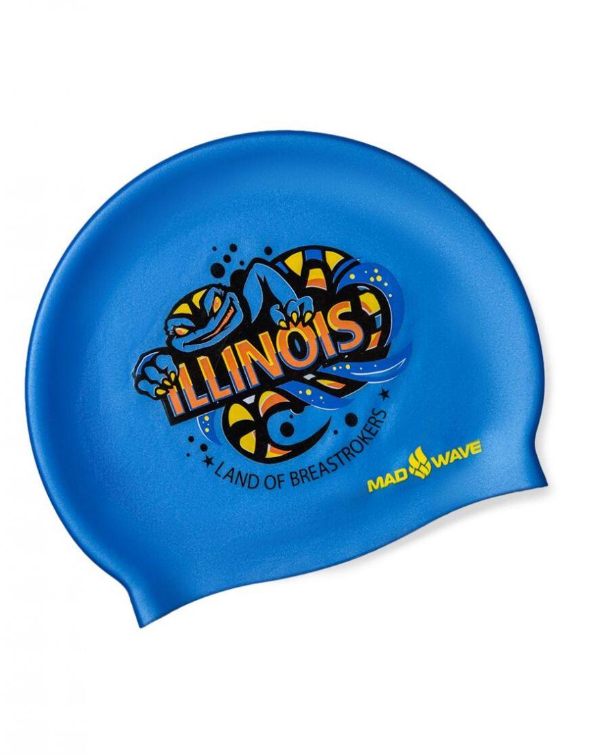 Шапочка для плавания силиконовая Mad Wave ILLINOIS