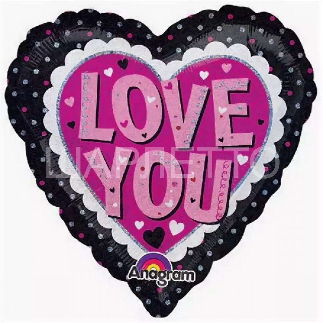 """Сердце """"LOVE YOU"""""""