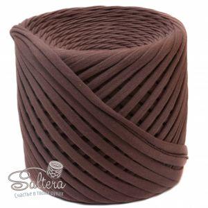 `Трикотажная пряжа ''Saltera'' 7-9 мм, длина 100м +-5%, цвет ШОКОЛАД