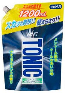 Шампунь для волос NIHON с кондиционером-тоником  Охлаждающий  1,2 л