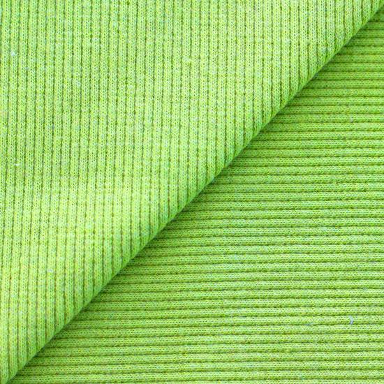 Лоскут трикотажной ткани кашкорсе Весенний зеленый 50*30