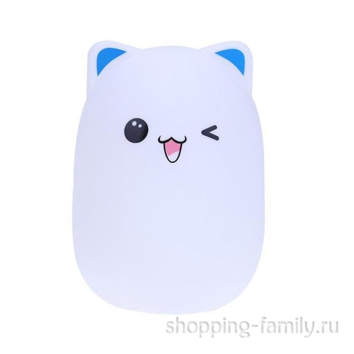 Силиконовый ночник Colorful Silicone Lamp, голубой мишка