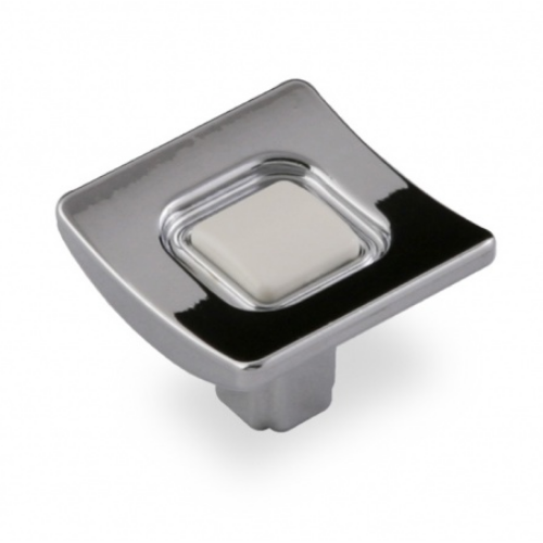 Ручка-грибок FВ-039 000 Cr глянцевый/белый (TЗ)