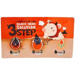 """""""ЕЛЗ"""" Milky Piggy Black Head Solution 3 Step Набор для удаления черных точек  6гр"""