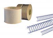 Спираль для переплёта в бобине 1/4, d6,4 мм, шаг 3:1, СИНИЙ