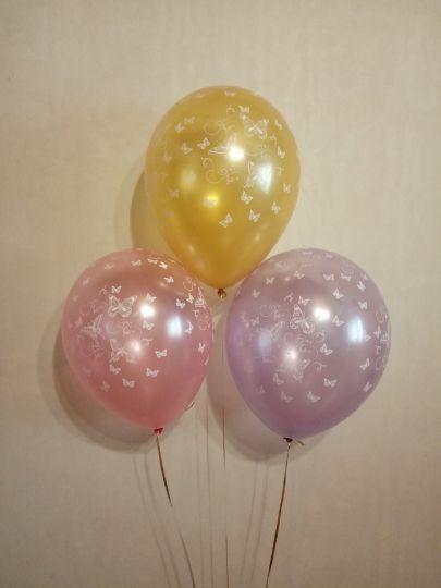 Маленькие Бабочки латексные шары с гелием