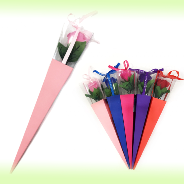 Роза  из парфюмированного мыла Beauty Life  в подарочной упаковке, 40 см
