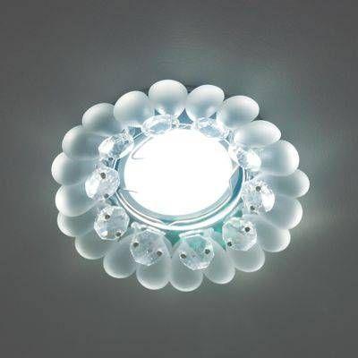 Светильник встраиваемый Fametto DLS-P120-2001 MR16 Peonia Круг Металл хром 102(55)x45 Стекло Прозрачный