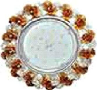 Светильник встраиваемый Ecola GX53-H4 св-к Стекло Круг с хрусталиками прозрачный и янтарь хром 56x120 FO53RYECB