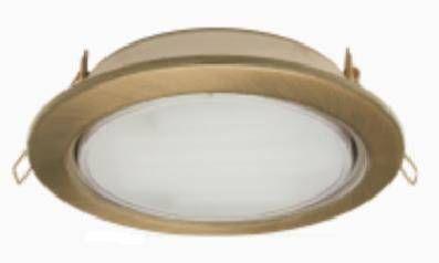Светильник встраиваемый Ecola GX70-H5 Черненая бронза 53x151 FN70H5ECB