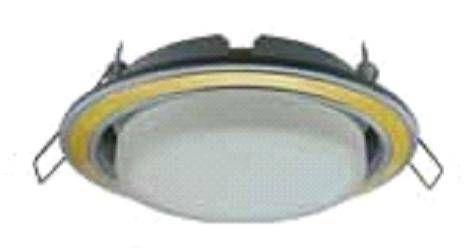 Светильник встраиваемый Ecola GX53-H4 2 цв.Серебро-золото-серебро 38x106 FD53H4ECB