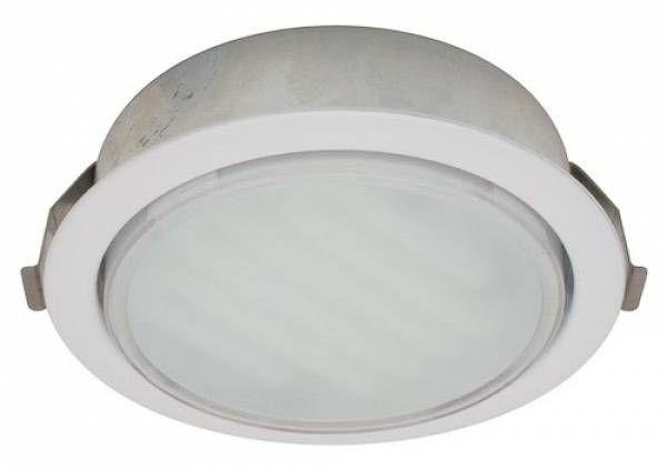 Светильник встраиваемый Ecola GX53-DL (для твер. пов. и мебели) Белый 28х93 FW53DLECC*