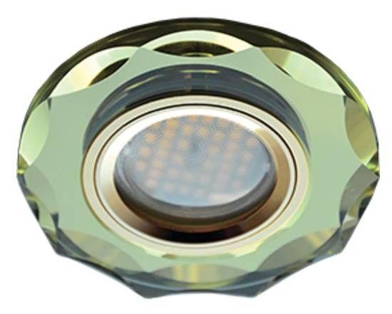 Светильник встраиваемый Ecola DL1653 MR16 GU5.3 стекло с вогнутыми гранями Золото/Золото 25x90 FG1653EFF