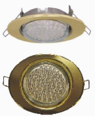 Светильник встраиваемый Ecola GX53-FT3238 Эллипс золото 41x126х106 FG53ELECB