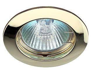 Светильник встраиваемый ЭРА KL1 GD 50W MR16 GU5.3 круг d75, золото