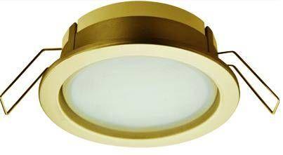 Светильник встраиваемый Ecola GX53-PD глубокий легкий Золото 31x95 FG53PDECC