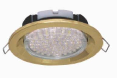 Светильник встраиваемый Ecola GX53-FT3225 глубокий легкий золото 27x109 FG5305ECB