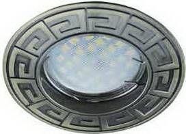 Светильник встраиваемый Ecola DL110A MR16 GU5.3 литой Антик Черненая Бронза 24x86 FA1602EFF