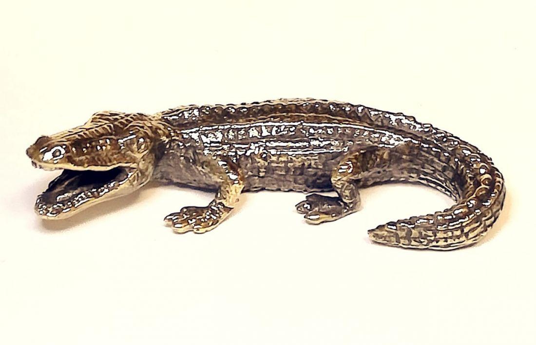 Фигурка Крокодил бронза