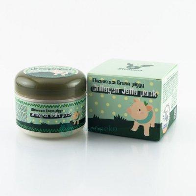 Коллагеновая маска для упругости и эластичности кожи Elizavecca green piggy collagen