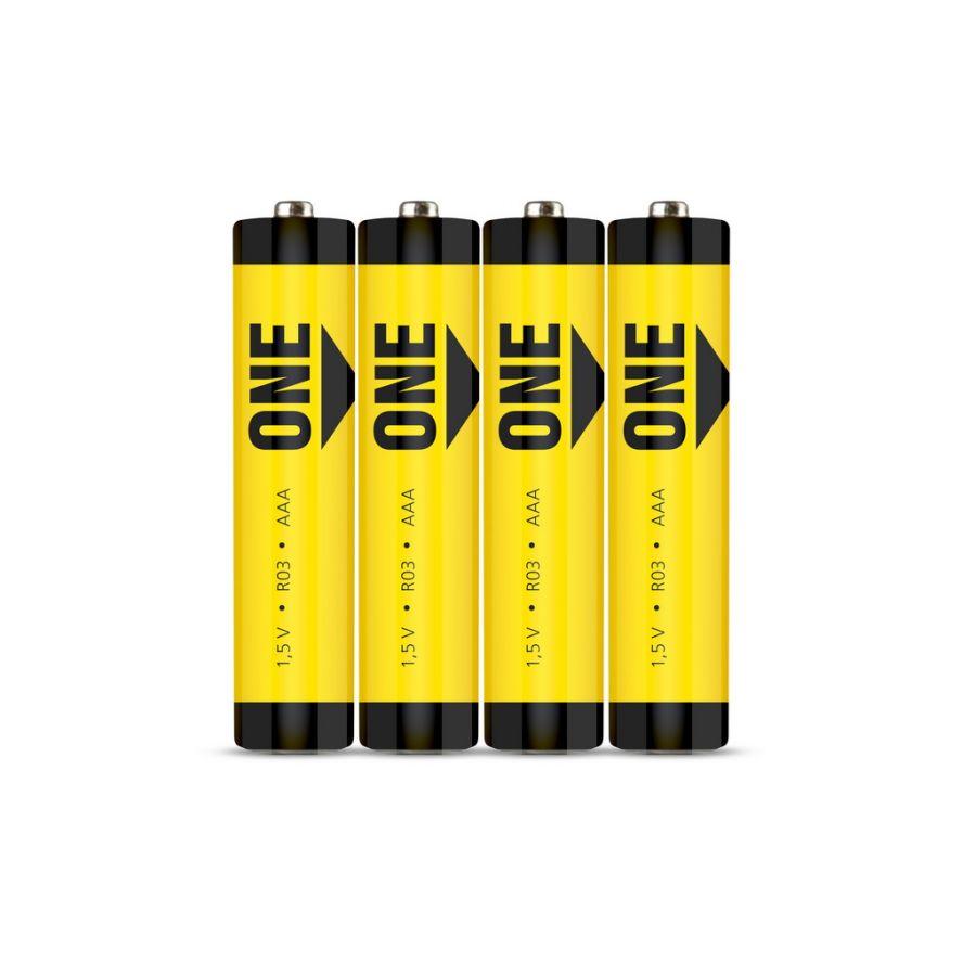 Батарейка солевая Smartbuy ONE R03/4S (60/600)  (SOBZ-3A04S)