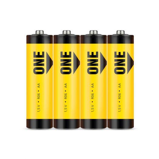 Батарейка солевая Smartbuy ONE R6/4S (60/600)  (SOBZ-2A04S)