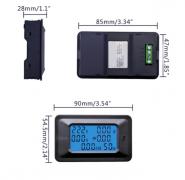 6 в 1 цифровой счетчик электроэнергии 20A и ваттметр
