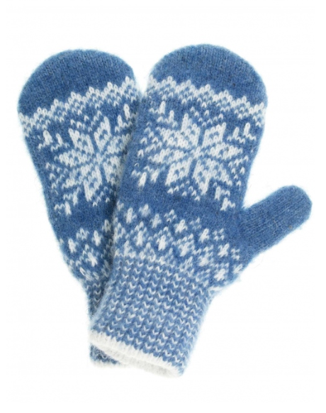 Синие варежки Снежинка
