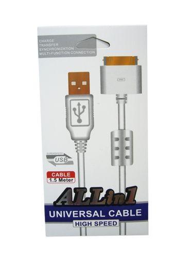 Кабель USB 2А Орбита PS-93 (iPhone4) 1,5м