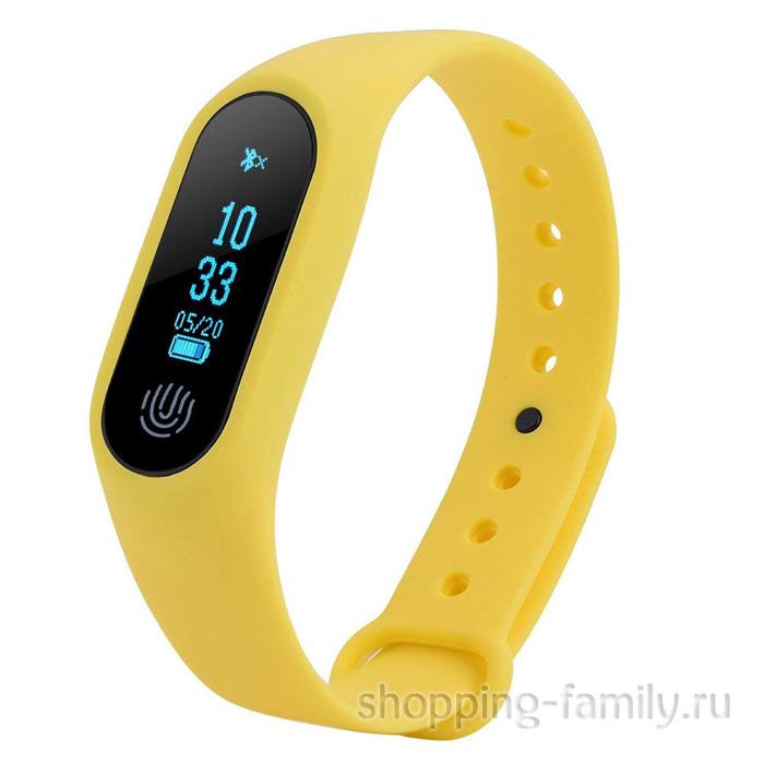 Фитнес Браслет Intelligence Health Bracelet M2, желтый