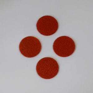 Фетровые пяточки 45мм, цвет № 17 темно-оранжевый