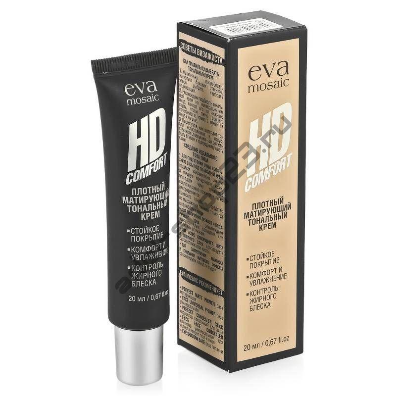 Eva Mosaic - Тональный крем HD Comfort ухаживающий, 20 мл