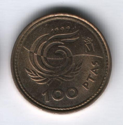100 песет 1999 года Испания