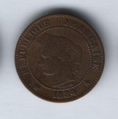 2 сантима 1884 года Франция