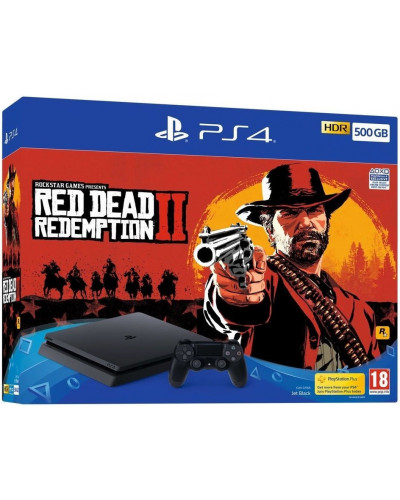 Игровая приставка Sony PlayStation 4 Slim 500 ГБ (CUH-2216A) + игра Red Dead Redemption 2
