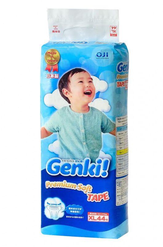 Nepia Genki XL  Подгузники (12-17 кг ), 44 шт.