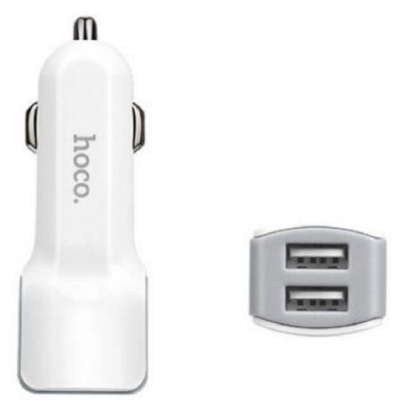 Автомобильная зарядка Hoco Z2A,2.4A, Dual Usb
