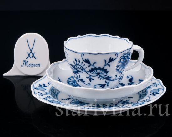 Изображение Чайное трио, Цвибельмустер, Meissen, Германия