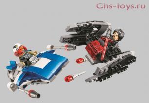 Конструктор Lari Звездные войны Истребитель типа А против бесшумного истребителя СИД 10896 (75196) 200 дет