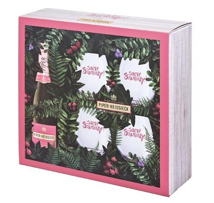 Champagne Piper-Heidsieck Rose Sauvage (gift set with 4 glasses)